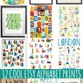 12 Cool Etsy Alphabet Prints for Kids Rooms