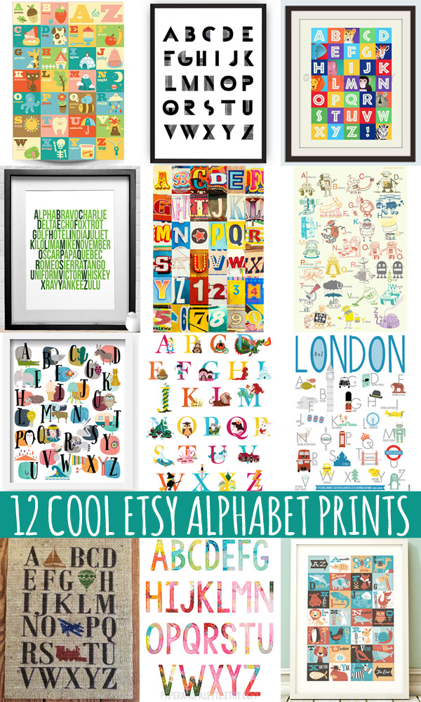 12 Cool Alphabet Prints