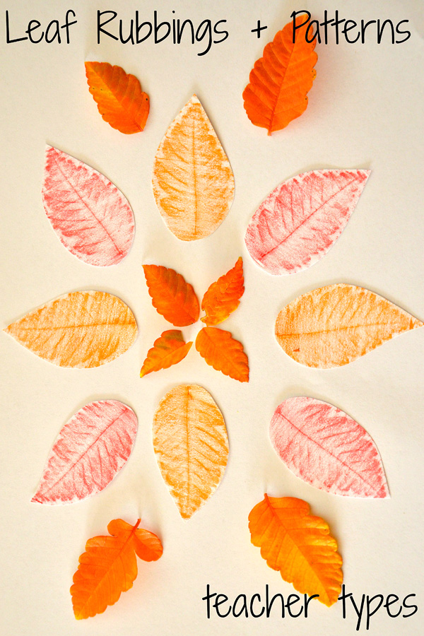 Autumn Art Ideas: Leaf Rubbings
