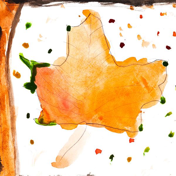 Autumn activities for preschoolers: Leaf drawings