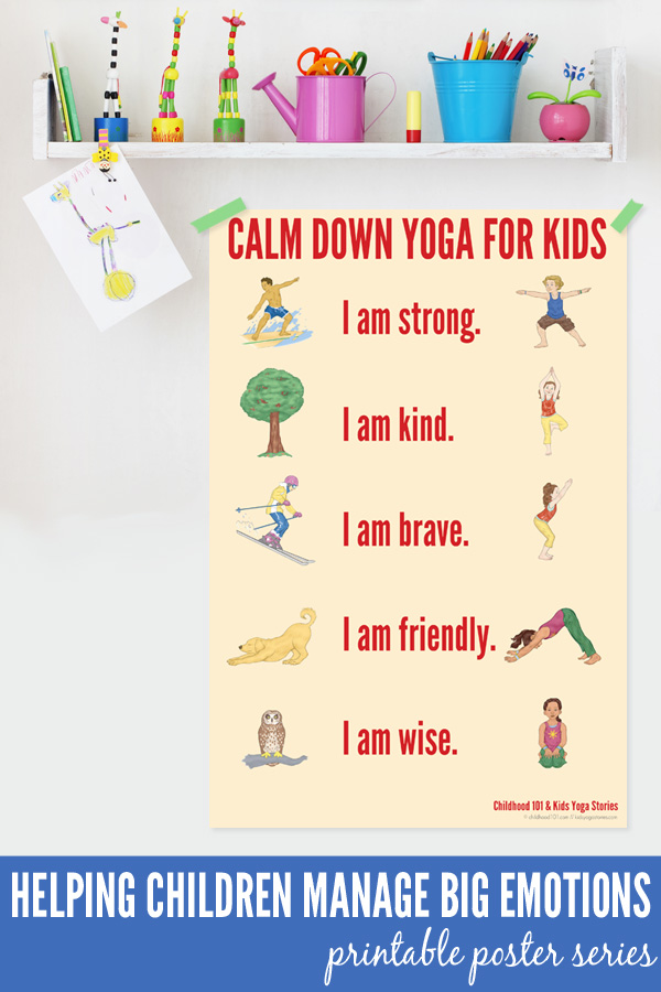 Calm Down Yoga Routine for kids - help children manage big emotions