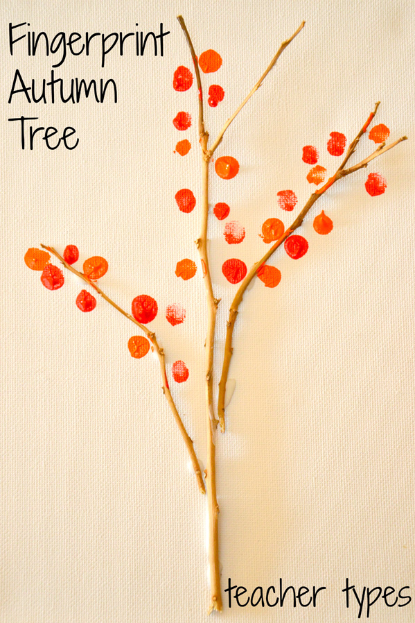 Autumn Art Activities: Fingerprint Autumn Tree