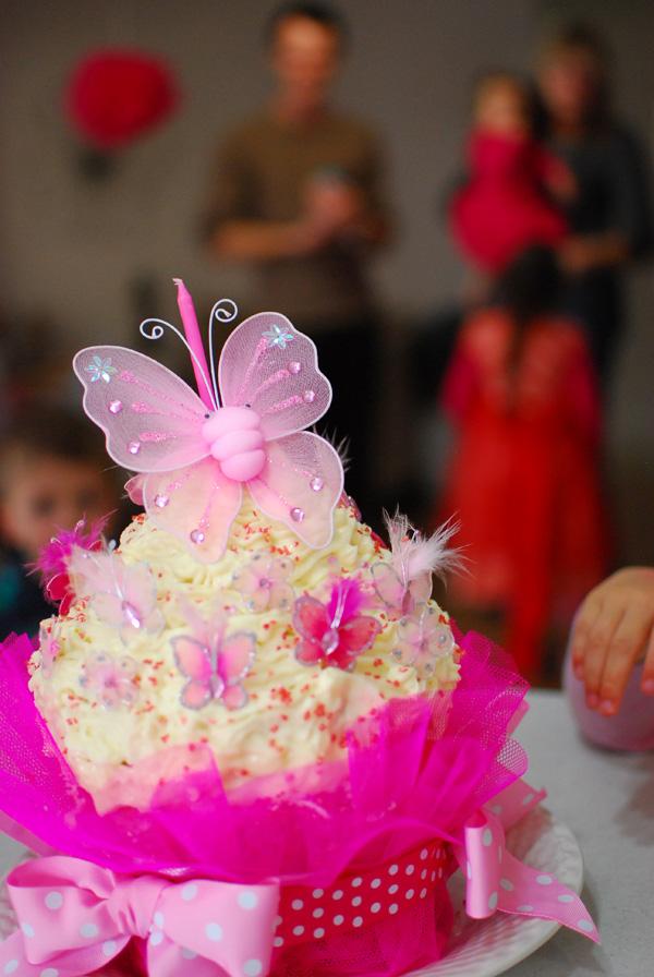 Garden themed party cake idea