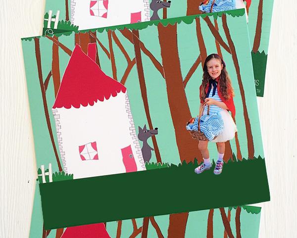 Fairy tale themed party invitation