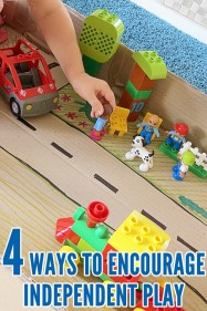 4 ways to encourage children to play independently