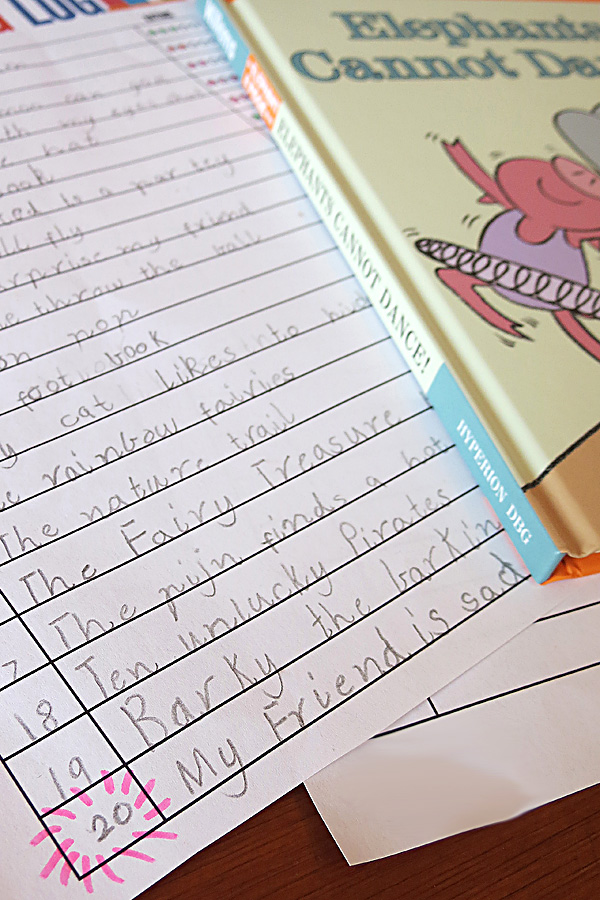 Printable Reading Log and how we use it to support our early reader