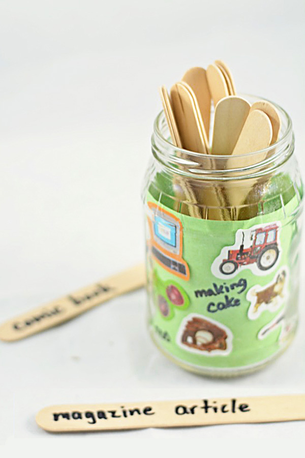 Personalized Writing Jar: Clever Creative Writing Prompts for Kids