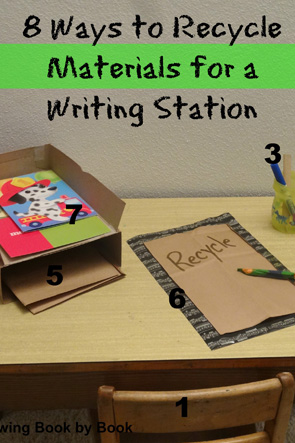 Writing-Station-Ideas-for-Using-Recycled-Materials-8-Great-Ideas-from-Growing-Book-by-Book