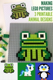 Making Lego Pictures: 3 Printable Animal Designs