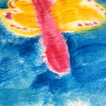 Kids Watercolour Painting Ideas: Paper towel painting