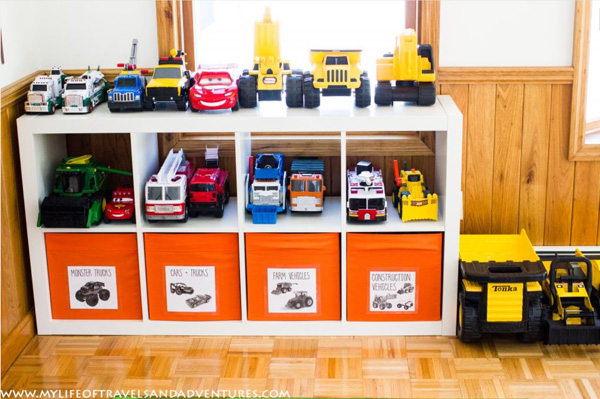 Playroom toy storage and organization ideas