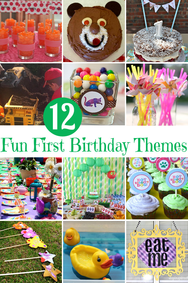 12 Fun Ideas for First Birthday Party Themes