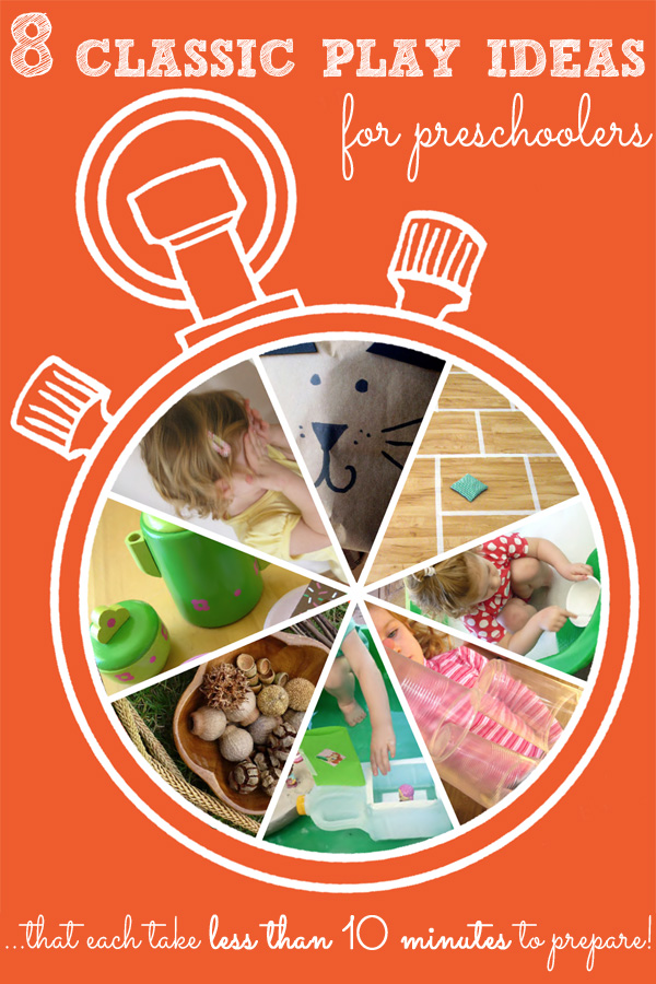 8 Quick-to-Prepare Classic Play Ideas for Preschoolers