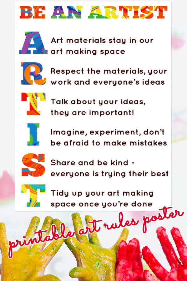 Our Art Room Rules Printable Poster
