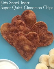 Kids Snack Ideas: Super Quick Cinnamon Chips