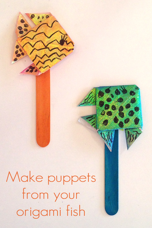 Origami Fish Puppets How To Fold An A Fabulous Craft For School