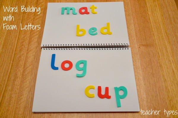 Word Games & Spelling Activites: Word Building with Letter Stickers