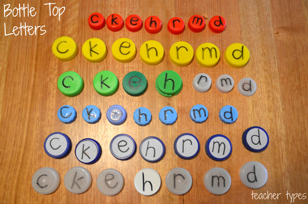 Word Games & Spelling Activites: Word Building with Lids