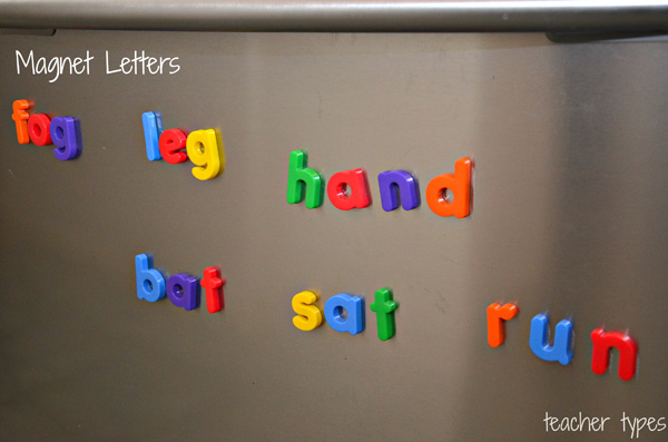 Word Games & Spelling Activites_Word Building with Magnets