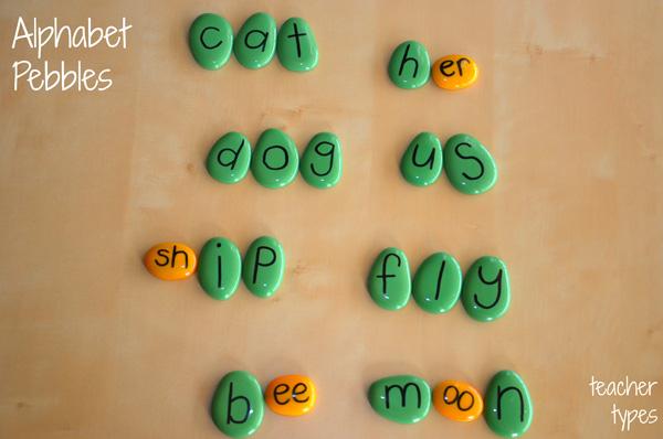 Word Games: Word Building Pebbles