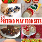 24 Handmade Pretend Play Food
