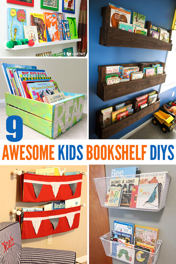 9 Awesome DIY Kids Bookshelves