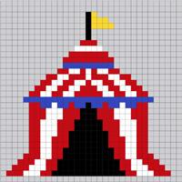 Circus Tent Lego mosaic
