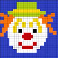 Clown Lego mosaic
