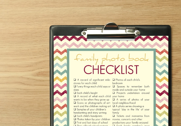 Get organized with your family photo books with these free printables - Checklist and Planner