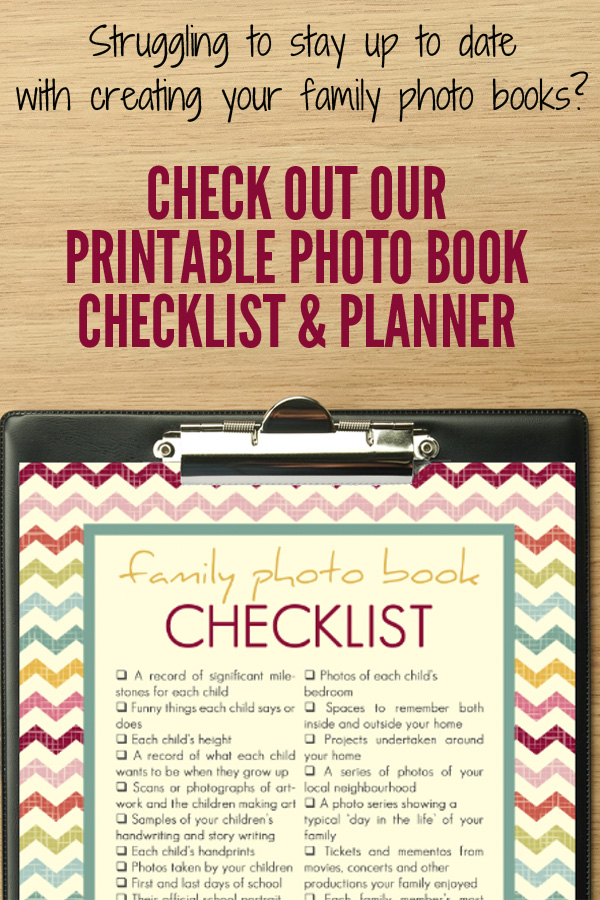 Family Photo Book Printable Planner & Checklist