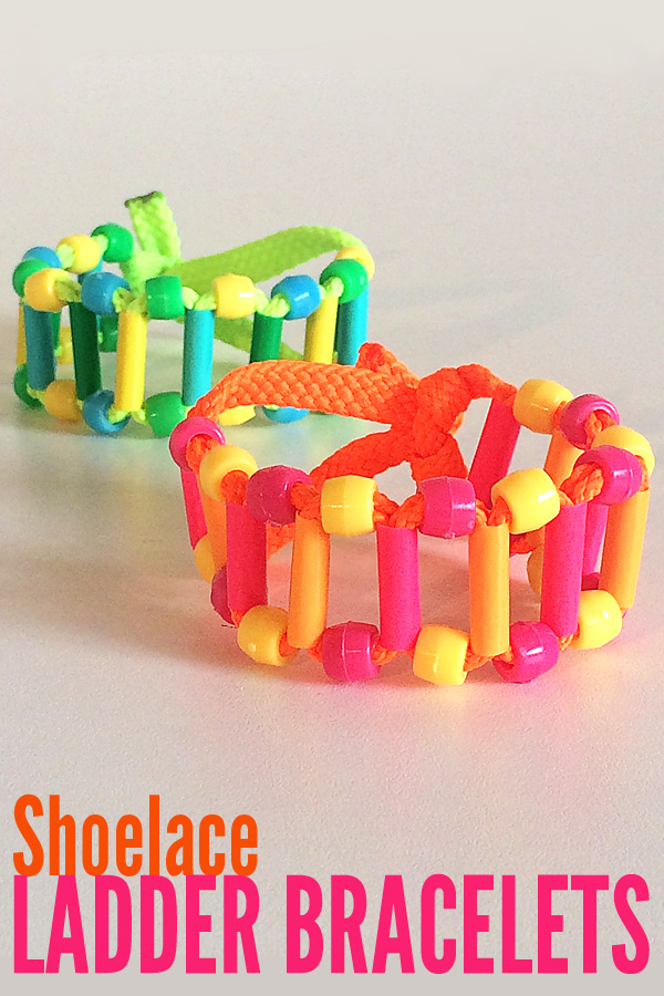 Shoelace Ladder Bracelets to make with tweens and teens