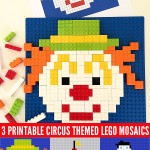 Circus Themed Lego Mosaic Printables by Childhood 101