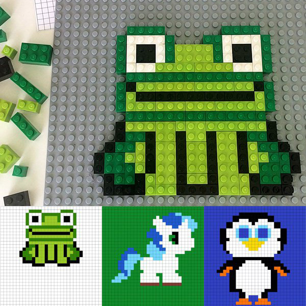 Making-Lego-Pictures: Printable-Animal-Designs