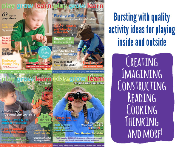 Play Grow Learn ezine all issues