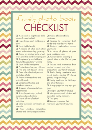 Get organized with making your family photo books with these free printables - Checklist and Planner