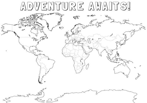 Printable world map