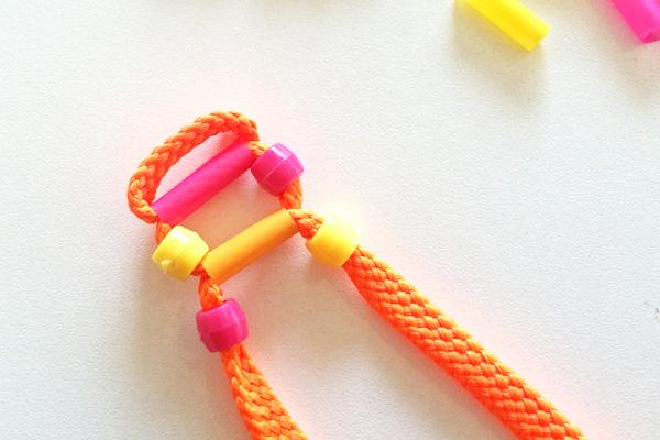 Teen Craft Activities: Shoelace Ladder Bracelet