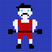 Strongman Lego mosaic