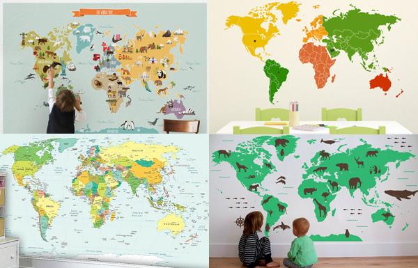 Wall Sticker World Maps