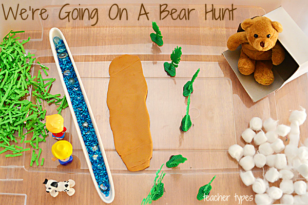 Were Going On A Bear Hunt Sensory Bin