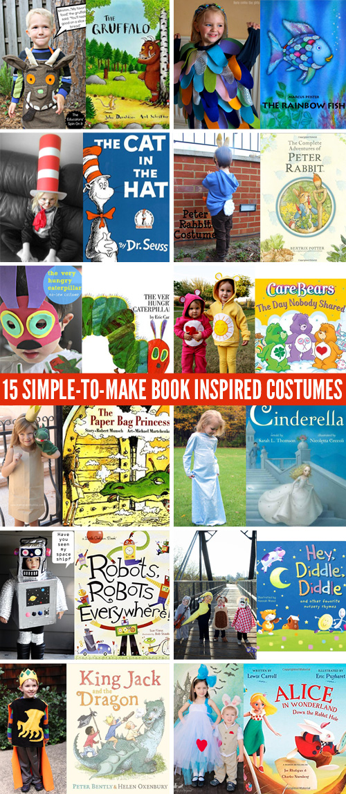 15 Simple-to-Make Book Inspired Costumes for Book Week or World Book Day  sc 1 st  Childhood101 : book character day costume ideas  - Germanpascual.Com