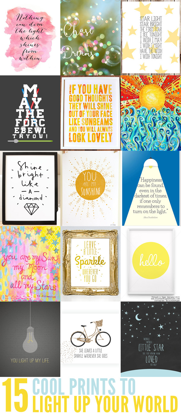 15 Cool Prints to Light Up Your World