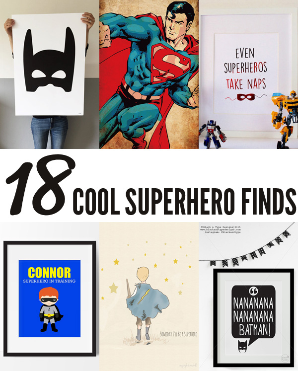 18 Cool Superhero Finds