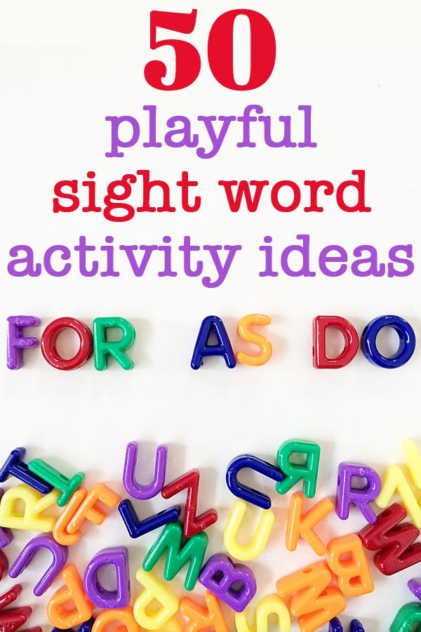 50 Fun Sight Word Activities for Kindergarten - Kid Approved!