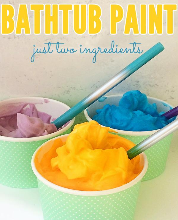 Bathtub paint for creative play