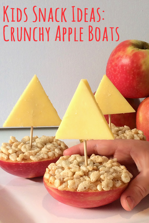 Kids Snack Ideas: Crunchy Apple Boats