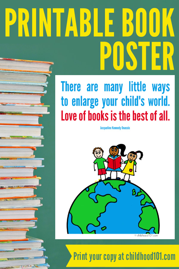 Reading Quotes for Kids: Printable Book Quote Poster