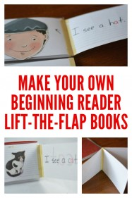 Simple DIY Lift the Flap Books for Beginning Readers