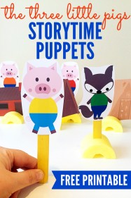 The Three Little Pigs Story Retell Puppets Free Printable