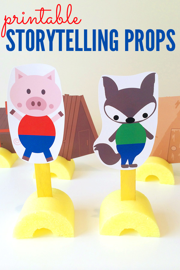 The Three Little Pigs Storytelling Props Free Printable